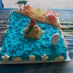 Mermaid cake, made by Mrs. Nancy cause she make pretty cakes!