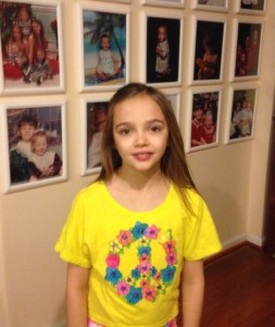 Lily at 9 years old and her first day of contacts!