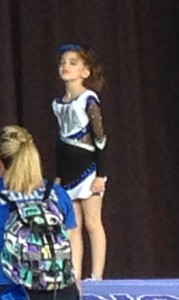 Lily waiting to start a tumble pass.