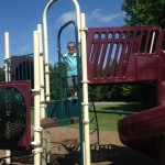 He has waited years to play on this playground!